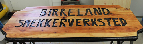 Logoen til Birkeland Snekkerverksted