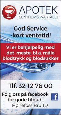 Annonse i Ringerikes Blad - Helse og velvære