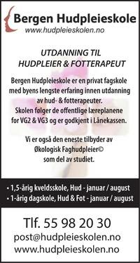 Annonse i Bergensavisen - Helse og velvære