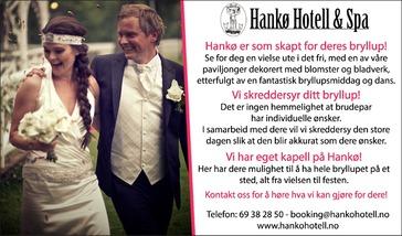 Annonse i Fredriksstad Blad - Alt til bryllupet