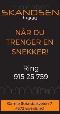 Annonse på trykk i Dalane Tidende - Bygg og fagfolk