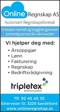 Annonse i Sandefjords Blad - Rådgivingsguiden