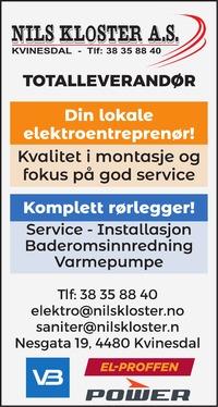 Annonse i Agder - Flekkefjords Tidende