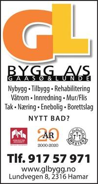 Annonse i Hamar Dagblad - Bygg og fagfolk