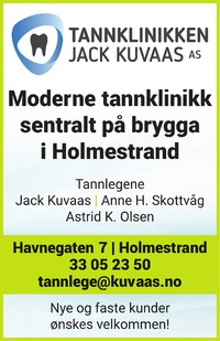 Annonse på trykk i Jarlsberg Avis - Helse og velvære