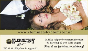 Annonse i Tønsbergs Blad - Alt til bryllupet