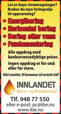 Annonse i Gudbrandsdølen Dagningen - Bygg og fagfolk