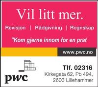 Annonse på trykk i Gudbrandsdølen Dagningen