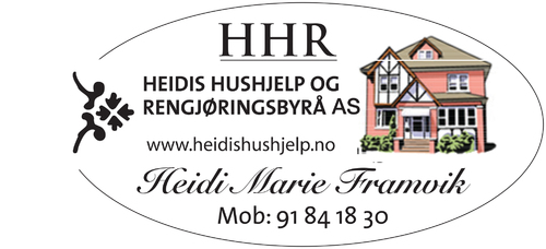 Heidi's Hushjelp og Rengjøringsbyrå Heidi Marie Framvik