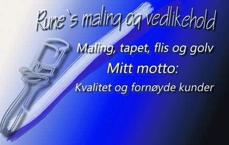 Rune's maling og vedlikehold