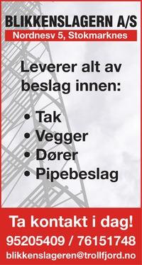 Annonse i Bladet Vesterålen