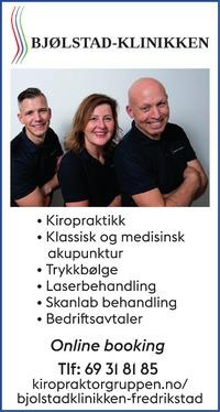 Annonse i Fredriksstad Blad - Helse og velvære