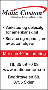 Annonse i Varden - Bil, MC & Caravan
