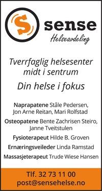 Annonse i Laagendalsposten - Helse og velvære