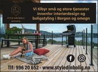 Annonse i Bergensavisen - Nye bedrifter