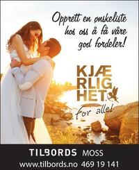 Annonse i Moss Avis - Alt til bryllupet