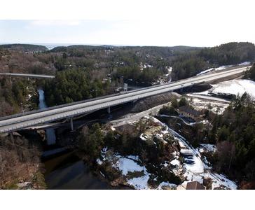 200.000 m³ betong fra mobilt blandeverk til bygging av motorveg E-18
