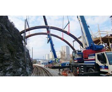 Arbeid på nytt jernbanespor mellom Sandnes og Stavanger.