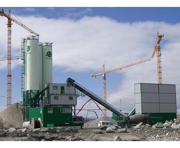 Mobilt blandeverk / fabrikk (ved leveranse til Snøhvit ved Hammerfest)