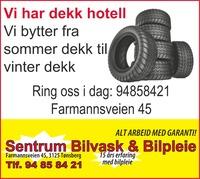 Annonse i Tønsbergs Blad - Bil, MC & Caravan