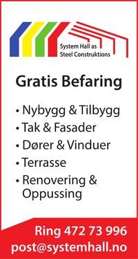 Annonse i Helgelendingen - Bygg og fagfolk