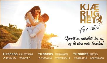 Annonse i Romerikes Blad - Alt til bryllupet